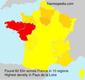 Surname Elin in France