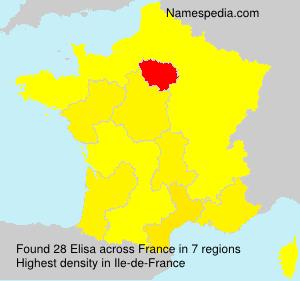 Surname Elisa in France