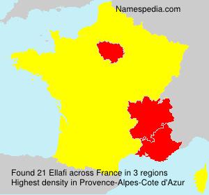 Familiennamen Ellafi - France