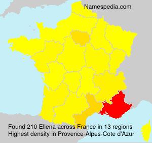 Surname Ellena in France
