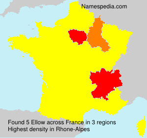 Surname Ellow in France