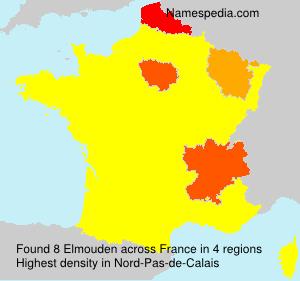Familiennamen Elmouden - France