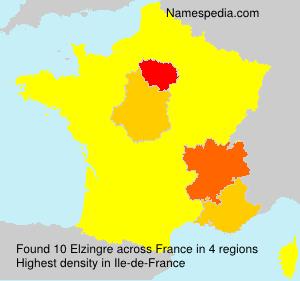 Familiennamen Elzingre - France