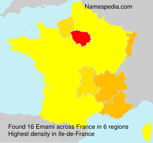Surname Emami in France