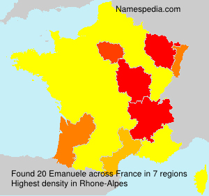 Surname Emanuele in France