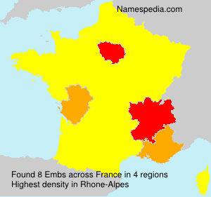 Familiennamen Embs - France
