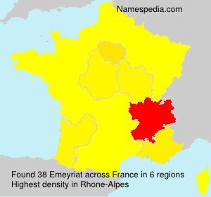 Surname Emeyriat in France