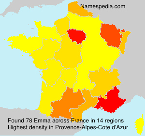 Surname Emma in France