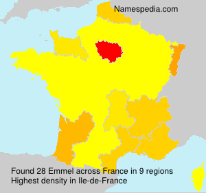 Surname Emmel in France