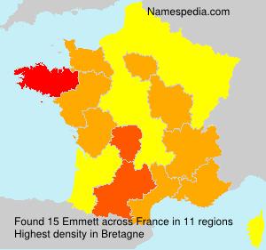 Surname Emmett in France