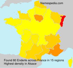 Surname Enderle in France