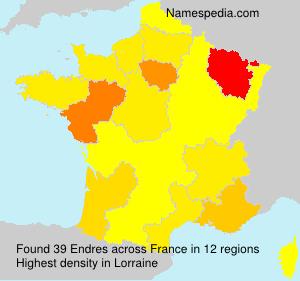Surname Endres in France