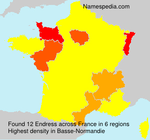 Surname Endress in France