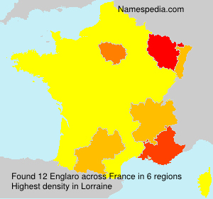 Surname Englaro in France