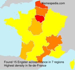 Surname Engster in France