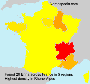 Surname Enna in France