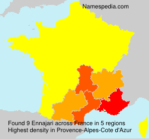 Surname Ennajari in France