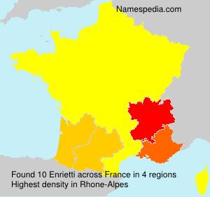 Familiennamen Enrietti - France