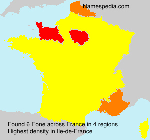 Surname Eone in France