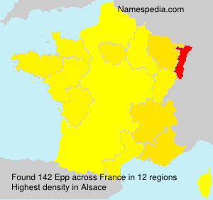 Surname Epp in France