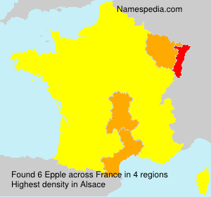 Surname Epple in France