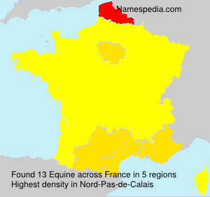 Surname Equine in France