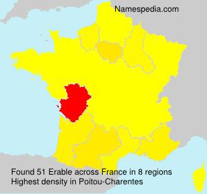 Surname Erable in France