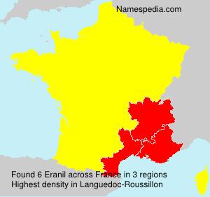 Surname Eranil in France