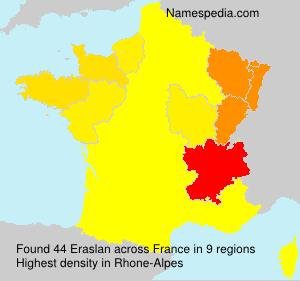 Surname Eraslan in France