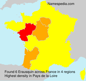 Surname Erausquin in France