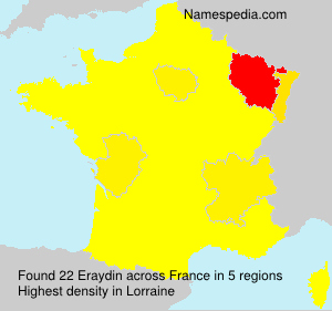 Surname Eraydin in France