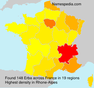 Surname Erba in France