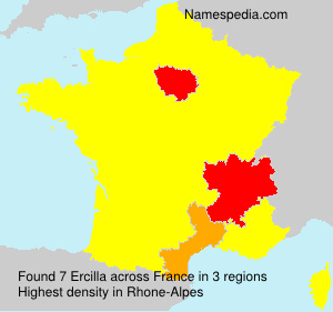 Surname Ercilla in France