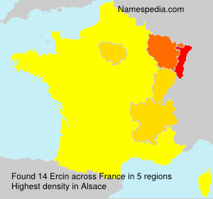 Surname Ercin in France