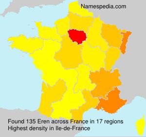 Surname Eren in France
