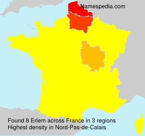 Surname Erlem in France