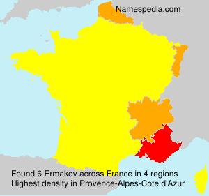 Surname Ermakov in France