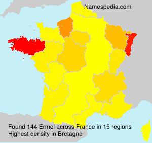 Surname Ermel in France