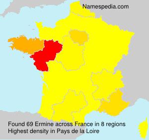 Familiennamen Ermine - France