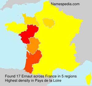 Surname Ernaut in France