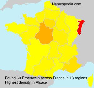 Familiennamen Ernenwein - France
