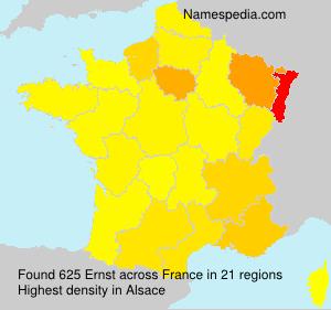 Familiennamen Ernst - France