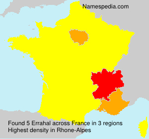 Surname Errahal in France