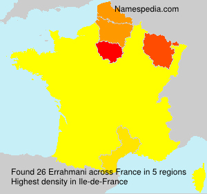 Surname Errahmani in France