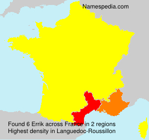 Surname Errik in France