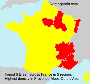 Surname Ersen in France