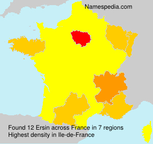 Surname Ersin in France