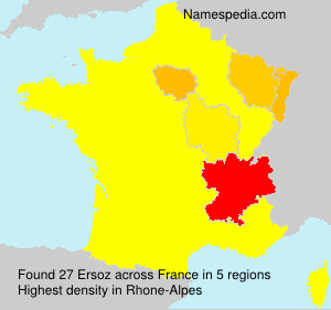 Surname Ersoz in France