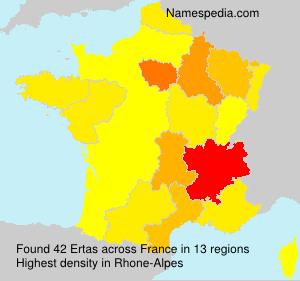 Surname Ertas in France