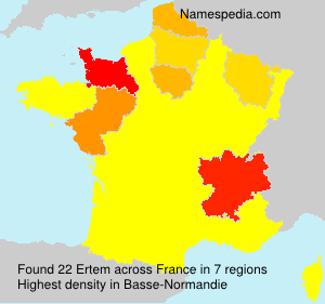 Surname Ertem in France